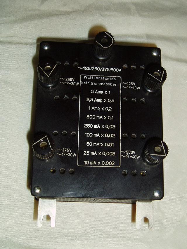Gossen  Universal Widerstand Spannungspfad ( Wattkonstanten ).