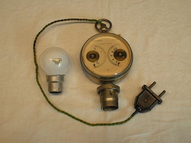 Leuchtmittel Prüfgerät aus Frankreich bis 110 Volt ! Fertigungsjahr ca. 1900