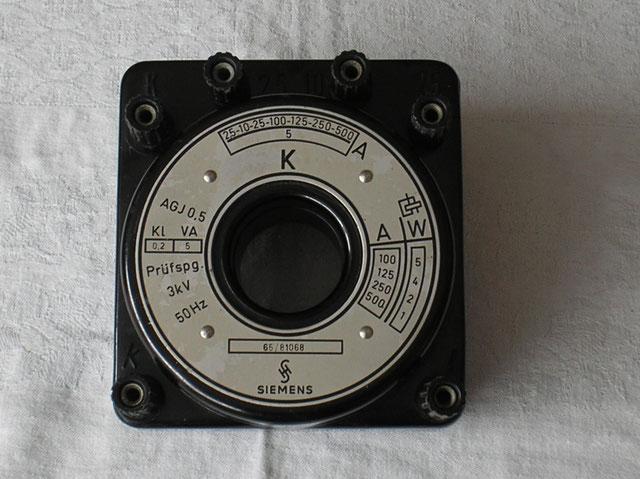 Stromwandler bis 500 Ampere der Fa. Siemens & Halske Berlin von ca. 1950