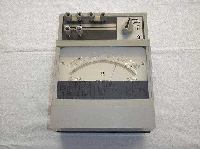 Präzisions Widerstandsmessgerät Typ. MkL 20 Metra Blansko von ca. 1984
