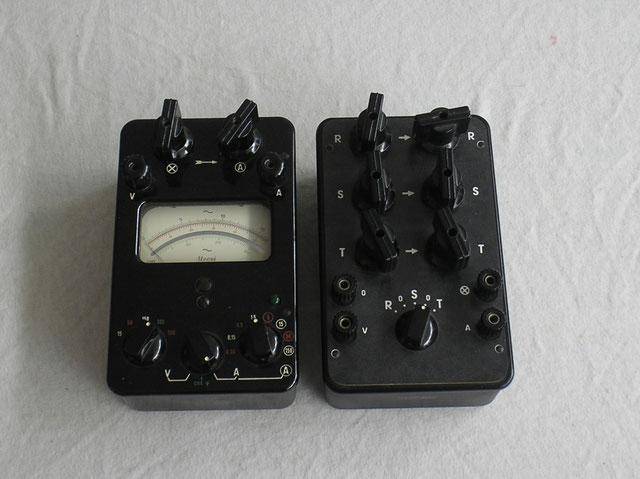 Hartmann & Braun Universal Messgerät Typ. U cosi Wechselstrom mit Dreileiter zusatzkasten
