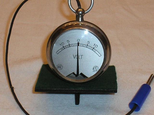 Taschen - Galvanometer von 1910 der Fa. Schoeller & Co - Frankfurt a/M.