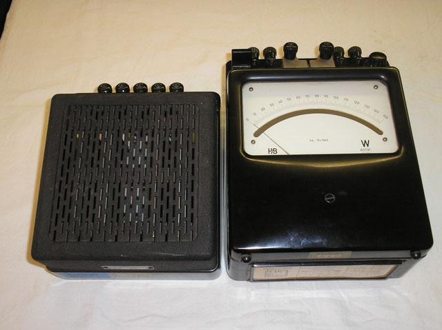 Labor Leistungsmesser Fa. Hartmann & Braun Typ. GGt Klasse 0,2 astatisch von 1950