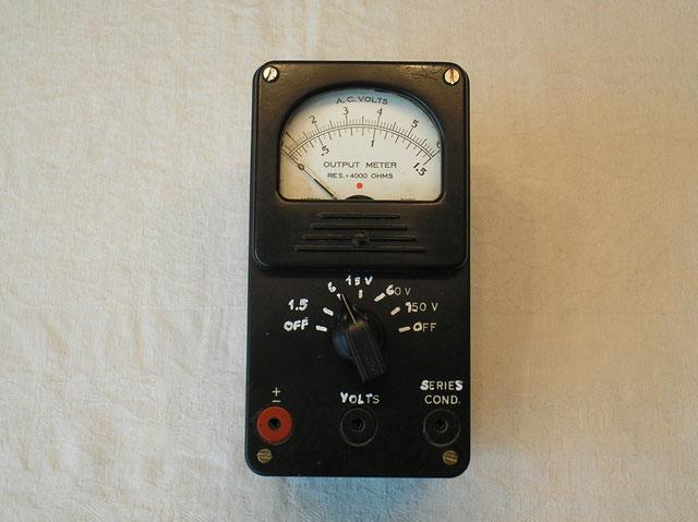 Output Meter AC Typ. 650 - SC - Fa. Triplett Elec. Inst. Co - Ohio USA von ca. 1935