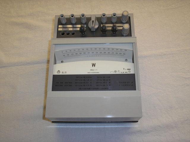 Präzisions Leistungsmesser als Spiegel Galvanometer von  Metra - Blansko - Czechslowakia Fertigungsjahr ca. 1995