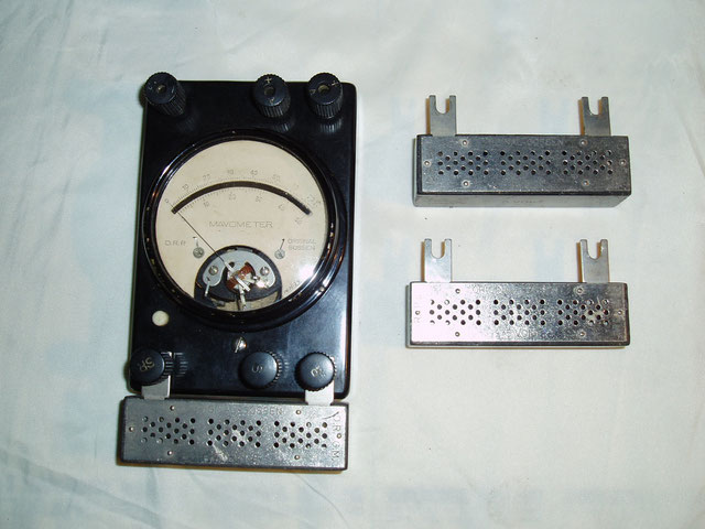Gossen  Universal Messgerät Mavometer mit Zusatzwiderstände zur Strommessung