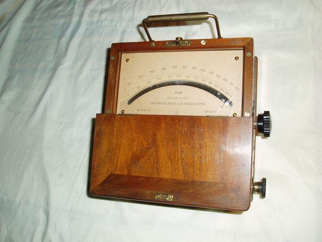 Hartmann & Braun  Widerstands Messgerät gebaut für die Reichspost. Gefertigt im Jahre 1918