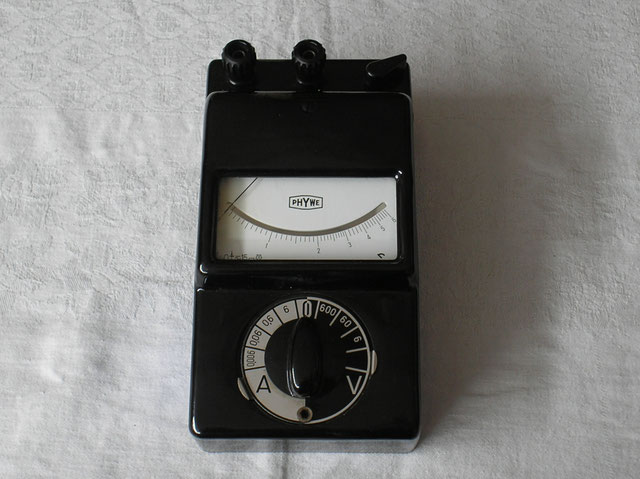 Schüler Messgerät für den Physik Unterricht der Fa. Phywe ( Gossen ) von 1964