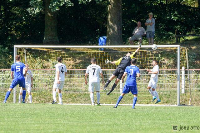 Der Treffer zum 6:0 durch Lukas Münch. Das Derby endete mit 6:1 für unseren FSV Schröck