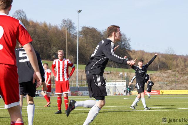 Niko Preis war der Torschütze zum 1:0  in der 75. Minute für unser FSV- Team