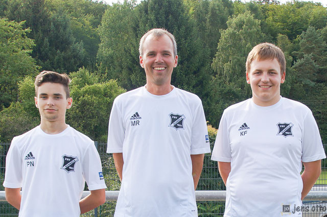 Patrick Naumann, Marcus Rolbetzki und Kevin Franzeck. Es fehlt Jonas Schick
