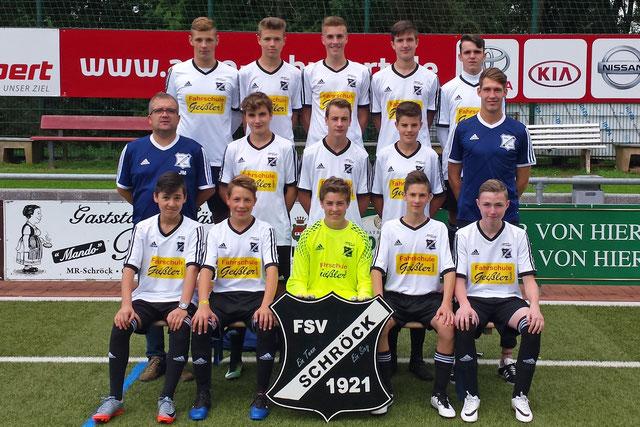 Teamfoto FSV Schröck B- Jugend Saison 2016/ 2017