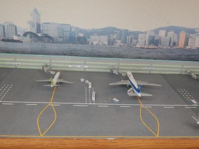 空港ジオラマ つくり方
