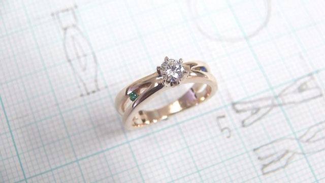 メッセージが込められた婚約指輪