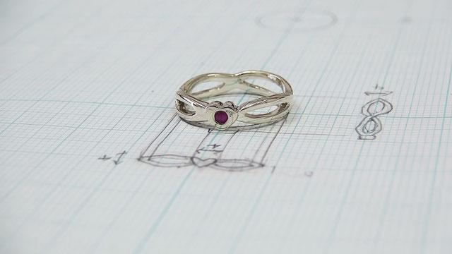 世界にたった一つのピンキー婚約指輪