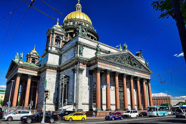 Isaakskathedrale Außenansicht Führung St. Petersburg