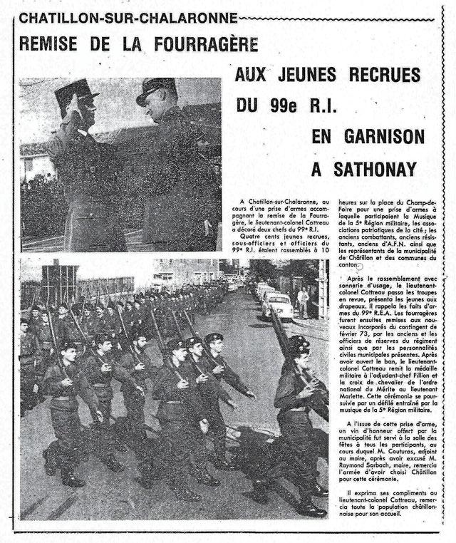 """""""Le Progrès"""" édition locale, mars 1973"""