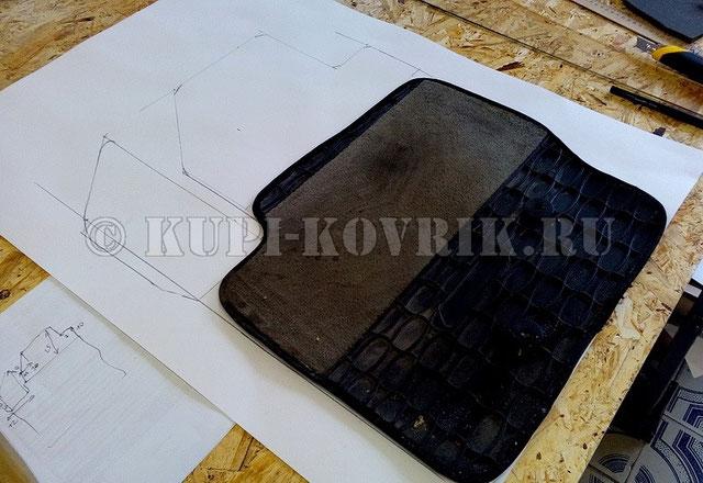 Пример изготовления трафаретов по оригинальным коврам VOLVO XC-90