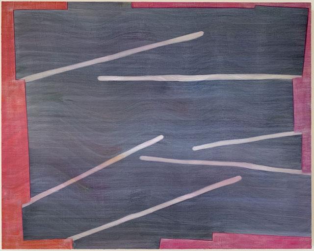 Chalkboard Brain, 2019, oil on wood panel, 24x30 inches