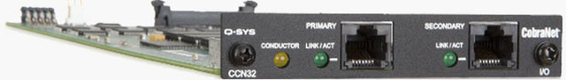 CCN32, tarjeta cobranet, biamp, tesira, q-sys