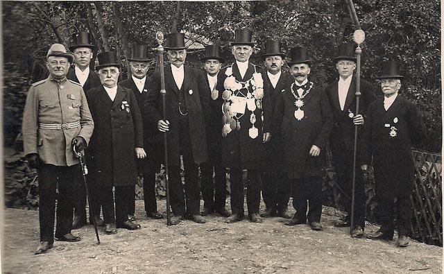 König 1929 Joseph Hucklenbroich. Quelle: Protokollbuch der SSB