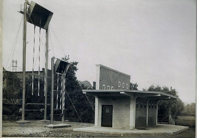 Schießstand 1929 nach dem Neubau. Quelle: Protokollbuch der SSB