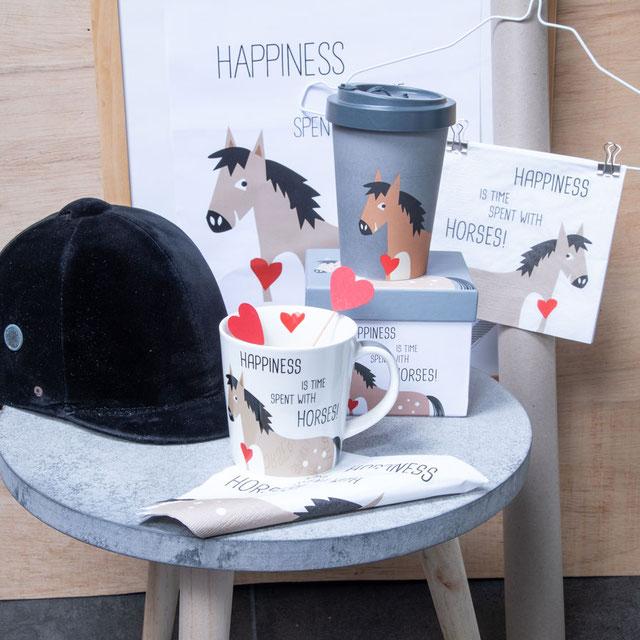 Trend Mug von PPD, große Porzellantasse von PPD, Motiv: Happiness & Horses