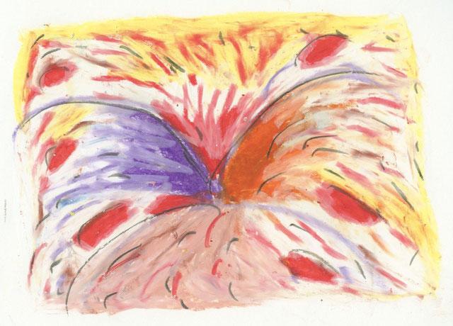 """""""Feuerwerk"""", Trickfilm, bestehend aus 171 Zeichnungen, Ölkreide auf Papier, 2008 - 2010"""