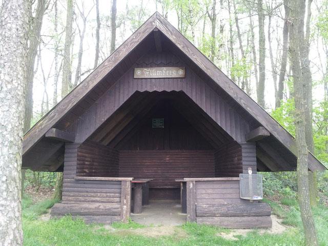 Wanderschutzhütte Flümberg Hartlage