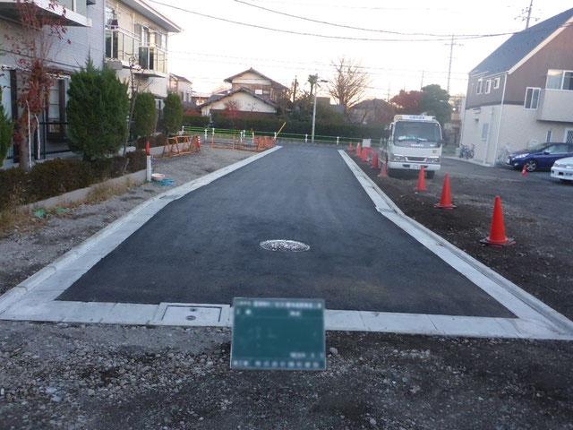位置指定道路築造工事 施工後