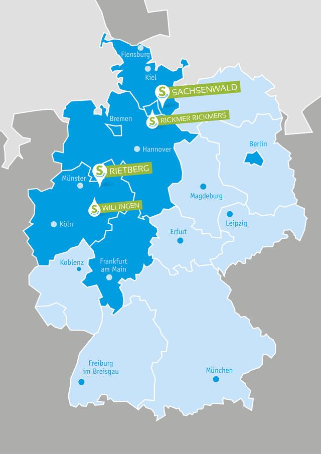 Locations, Locations für Ihre Team-Aktion, Schleswig-Holstein, Hamburg, Ostwestfalen, Nordrhein-Westfalen, Hessen, teamevent.de, Teamevent, Firmenevent, Betriebsausflug, Schnurstracks, Teambuilding