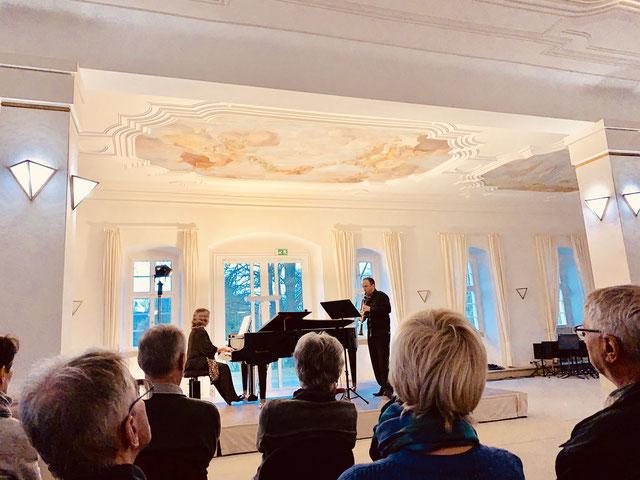Duo NEON, Zoltán Kovács (Klarinette) und Eva Schieferstein (Klavier), Weikersheim, 17.03.2019