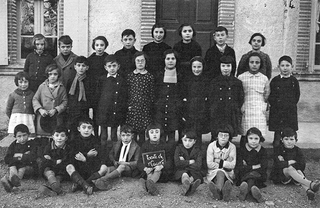 Classe en 1941, de l'école primaire mixte de Vauré - crédit photo : collection Gilbert Puginier