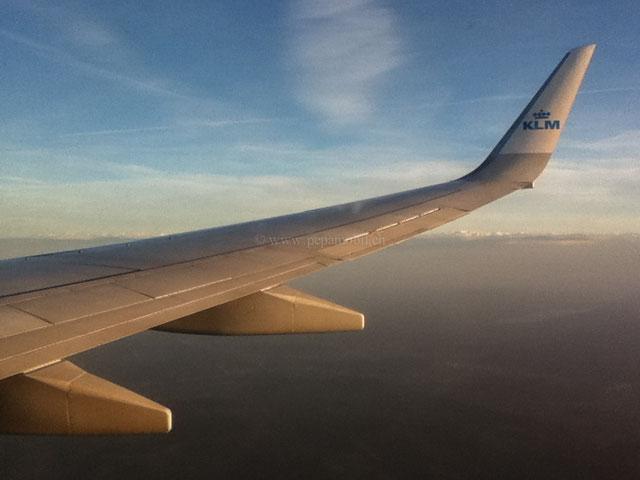KLM-Flug / Landung in Zürich
