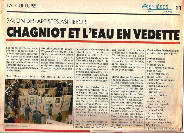 Prix oeuvres sur papier Asniières-sur-Seine