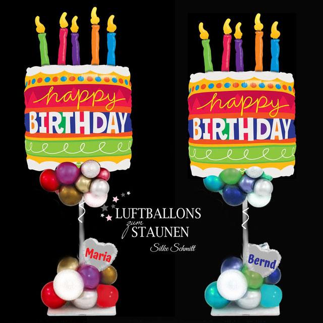 Ballon Luftballon Folienballon happy Birthday Geburtstag Party Feier Geburtstagsfeier Deko Dekoration mit Namen Geschenk Mitbringsel Überraschung Versand Frau Mann personalisiert Herz Tort Kuchen Kerzen Geburtstagskuchen Geburtstagstorte