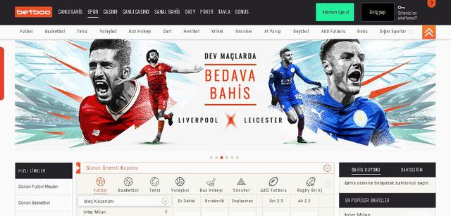 Betboo Spor Sayfası Görüntüsü