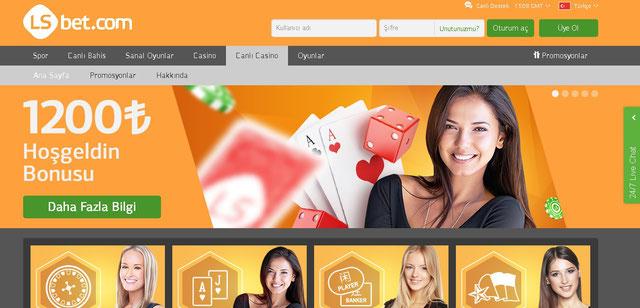 LSbet Canlı Casino Sayfası Görüntüsü