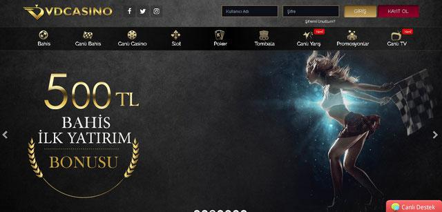 Vdcasino Ana Sayfa Görüntüsü