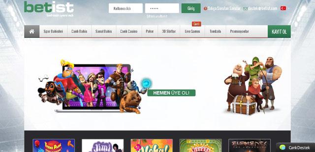 Betist Casino Sayfası Görüntüsü