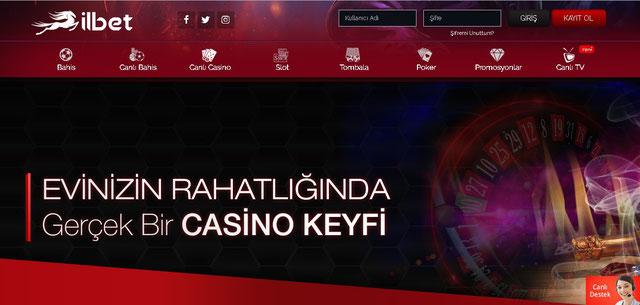 İlbet Canlı Casino Sayfası Görüntüsü