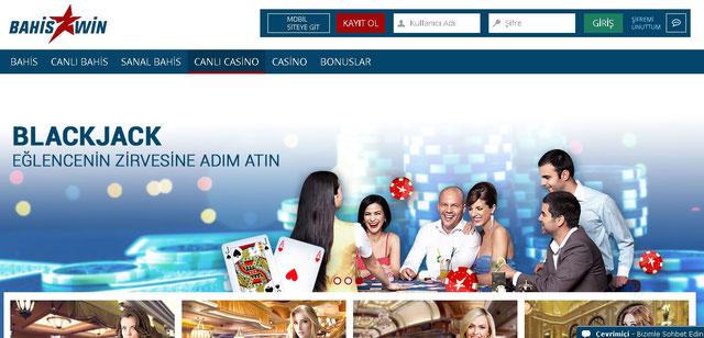 Bahiswin Canlı Casino Sayfası Görüntüsü
