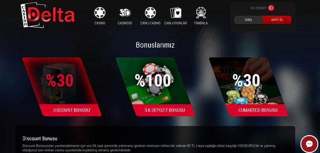 Casino Delta Bonuslar Görüntüsü
