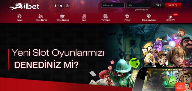 İlbet Casino Sayfası Görüntüsü
