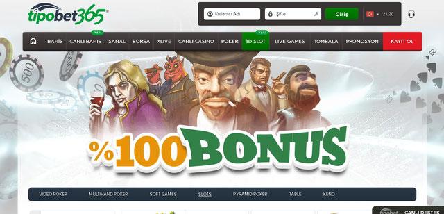 Tipobet365 Casino Sayfası Görüntüsü