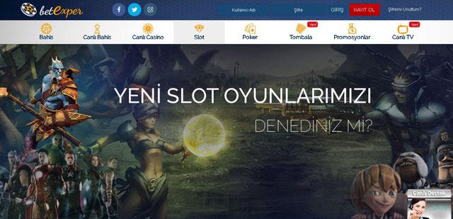 Betexper Casino Sayfası görüntüsü