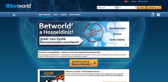 Betworld bonus