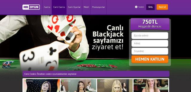 Mr Oyun Canlı Casino Sayfası Görüntüsü