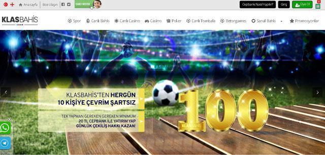 Klasbahis Ana Sayfa Görüntüsü