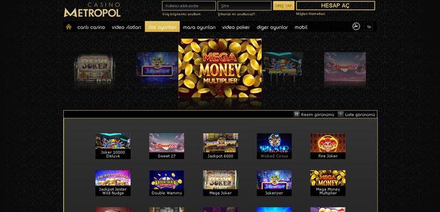 Casinometropol Casino Sayfası Görüntüsü